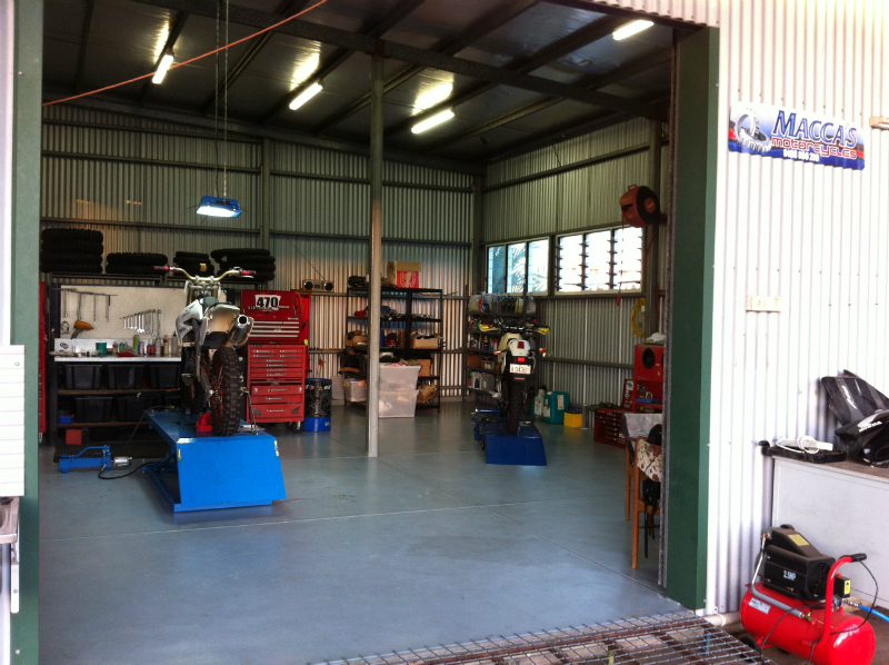Macca's Motorcycles Workshop